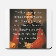 The Lion Cannot Protect Himself From Traps - Mach