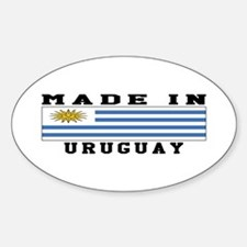 Uruguay Made In Sticker (Oval)