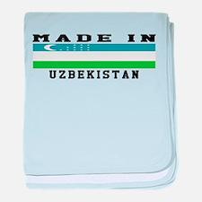 Uzbekistan Made In baby blanket