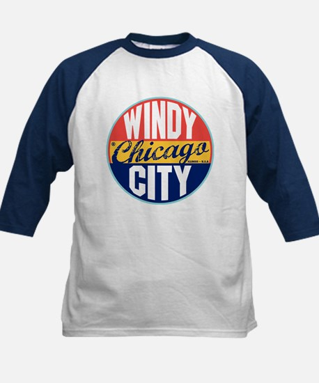 Chicago Vintage Label Kids Baseball Jersey