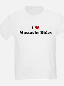 I Love Mustache Rides Kids T-Shirt
