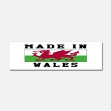 Wales Made In Car Magnet 10 x 3