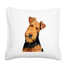 Airedale Terrier Square Canvas Pillow