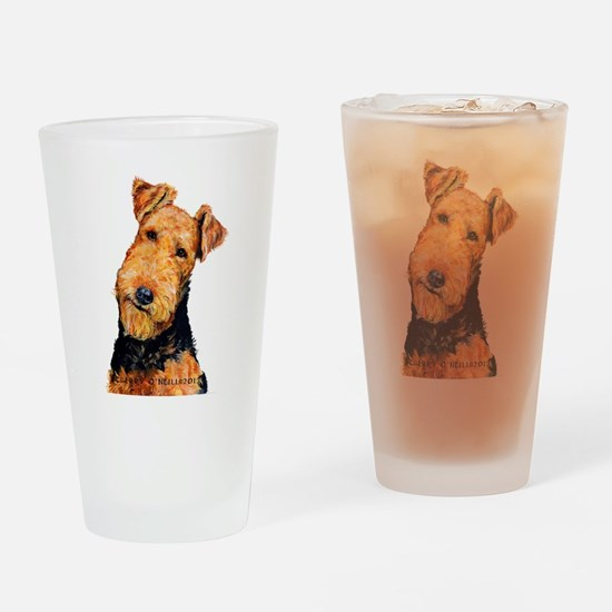 Airedale Terrier Drinking Glass