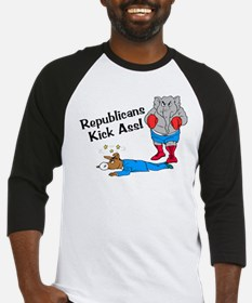 Republicans Kick Ass Baseball Jersey