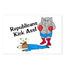 Republicans Kick Ass Postcards (Package of 8)