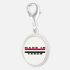 Yemen Made In Silver Oval Charm