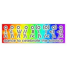 ASCII Solstice Dance Bumper Bumper Sticker