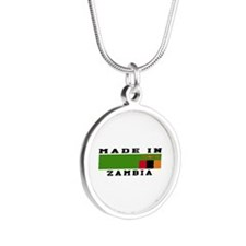 Zambia Made In Silver Round Necklace