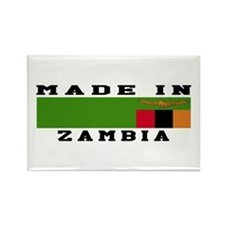 Zambia Made In Rectangle Magnet
