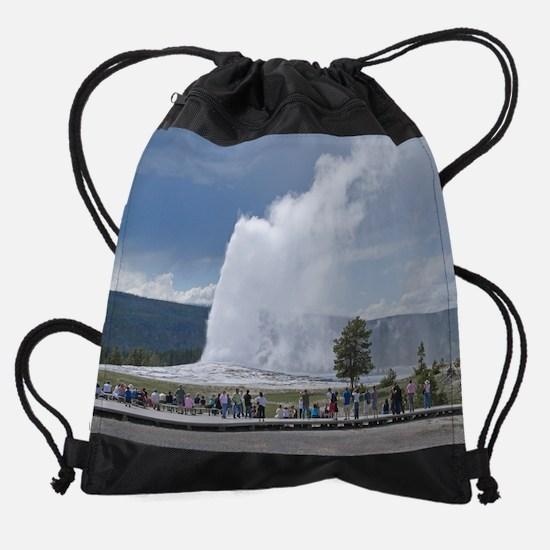 (12)Yellowstone Faithful.png Drawstring Bag