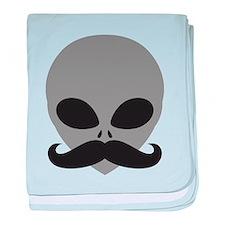 mustache_alien baby blanket