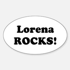 Lorena Rocks! Oval Decal