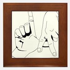 L.A. Hand Sign Framed Tile