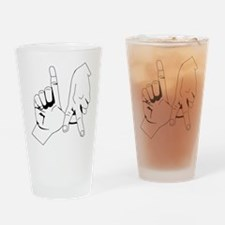 L.A. Hand Sign Drinking Glass