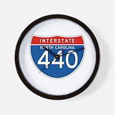 Interstate 440 - NC Wall Clock