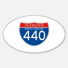 Interstate 440 - NC Oval Decal