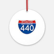Interstate 440 - NC Ornament (Round)