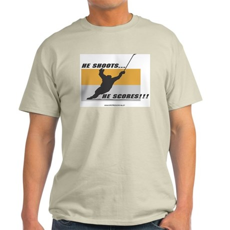 He Shoots He Scores Ash Grey T-Shirt