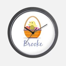Easter Basket Brooke Wall Clock