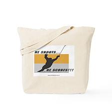 He Shoots He Scores Tote Bag