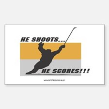 He Shoots He Scores Rectangle Decal