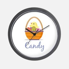 Easter Basket Candy Wall Clock