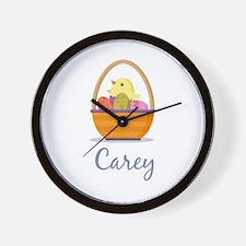 Easter Basket Carey Wall Clock