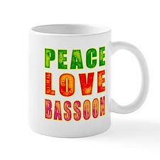 Peace Love Bassoon Small Mug