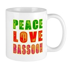 Peace Love Bassoon Small Mug