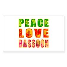 Peace Love Bassoon Decal