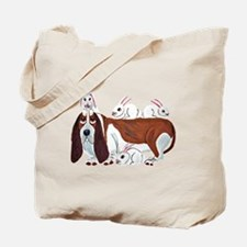 Basset Hound With Bunny Friends Tote Bag