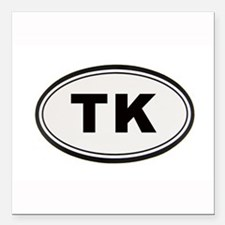 "Tony Kornheiser Sticker Square Car Magnet 3"" x 3"""