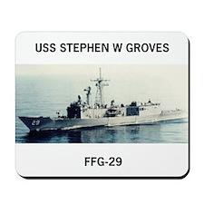 USS STEPHEN W GROVES Mousepad