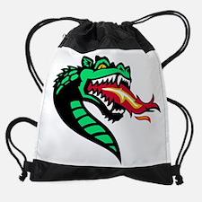 Funny Pit bull butterfly Drawstring Bag