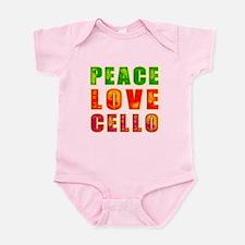 Peace Love Cello Infant Bodysuit