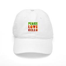 Peace Love Cello Baseball Cap
