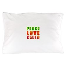 Peace Love Cello Pillow Case