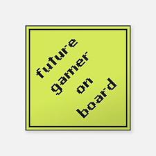 future gamer on board square sticker