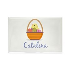 Easter Basket Catalina Rectangle Magnet (100 pack)
