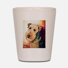 Airedale Terrier Portrait Shot Glass