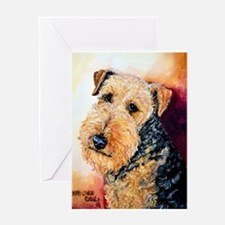 Airedale Terrier Portrait Greeting Card