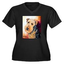 Airedale Terrier Portrait Plus Size T-Shirt