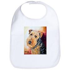 Airedale Terrier Portrait Bib