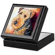 Airedale Terrier Portrait Keepsake Box