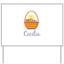 Easter Basket Cecilia Yard Sign