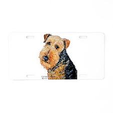 Airedale Terrier Portrait Aluminum License Plate