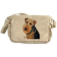 Airedale Terrier Portrait Messenger Bag