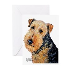 Airedale Terrier Portrait Greeting Cards (Pk of 20