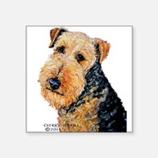 Airedale Terrier Portrait Sticker